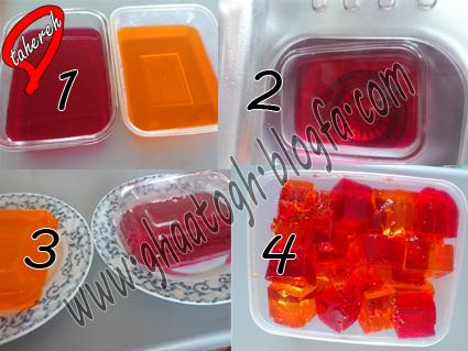 روش جدا كردن ژله از ظرف شیشه ای